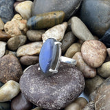 Labradorite ring set in 925 Sterling Silver