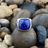 Lapis ring set in 925 Sterling Silver
