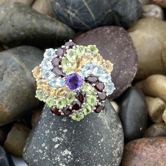 Mixed Gemstone Ring 3