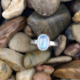 Moonstone ring set in 925 Sterling Silver