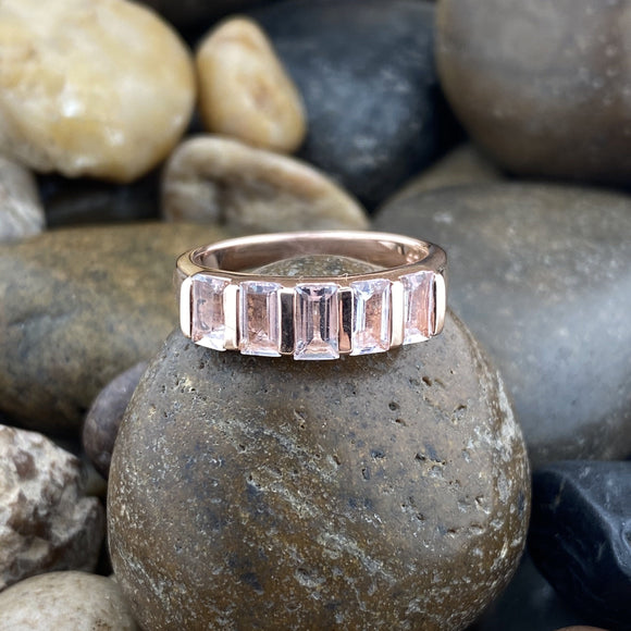 Rose Gold Finish Morganite Ring 2