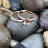 Rose Gold Finish Morganite Ring 3