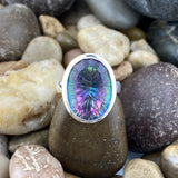 Mystic Topaz ring set in 925 Sterling Silver