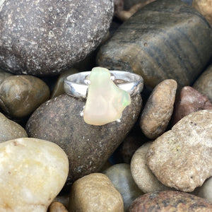 Opal ring set in 925 Sterling Silver