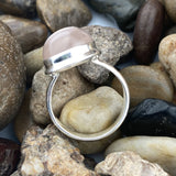 Rose Quartz ring set in 925 Sterling Silver
