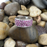 Ruby ring set in 925 Sterling Silver