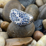 Sapphire ring set in 925 Sterling Silver