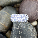 Tanzanite ring set in 925 Sterling Silver