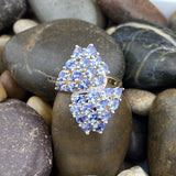 Gold Finish Tanzanite ring set in 925 Sterling Silver