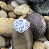 Tanzanite and Diamond ring set in 925 Sterling Silver