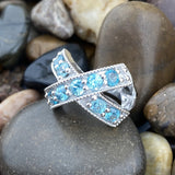 Zircon ring set in 925 Sterling Silver