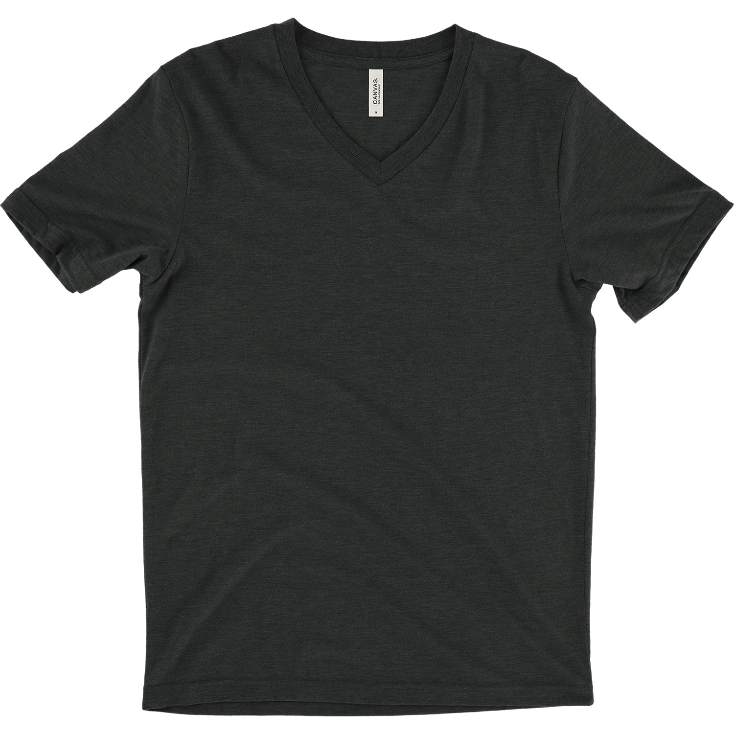 Unisex Triblend Short Sleeve V-Neck Tee - Tri Black