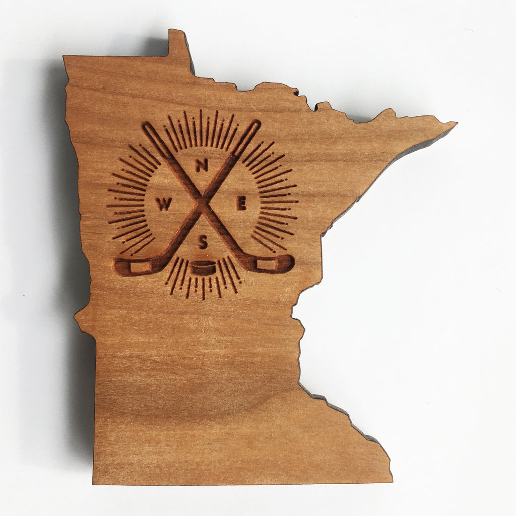 MN Hockey Compass Ornament or Magnet