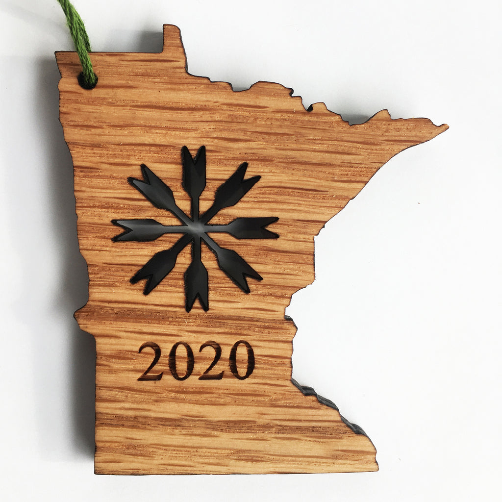Minnesota 2020 Wood Laser-Cut Ornament or Magnet