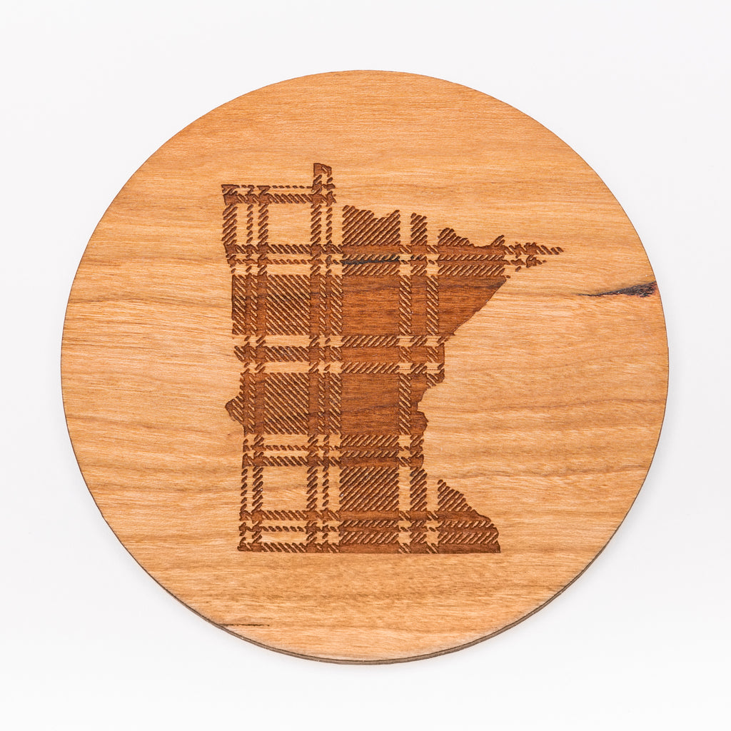 MN Plaid Coaster