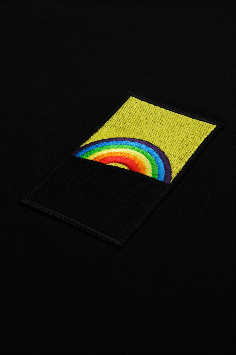 Roy G. Biv Patch T-Shirt - Siyah