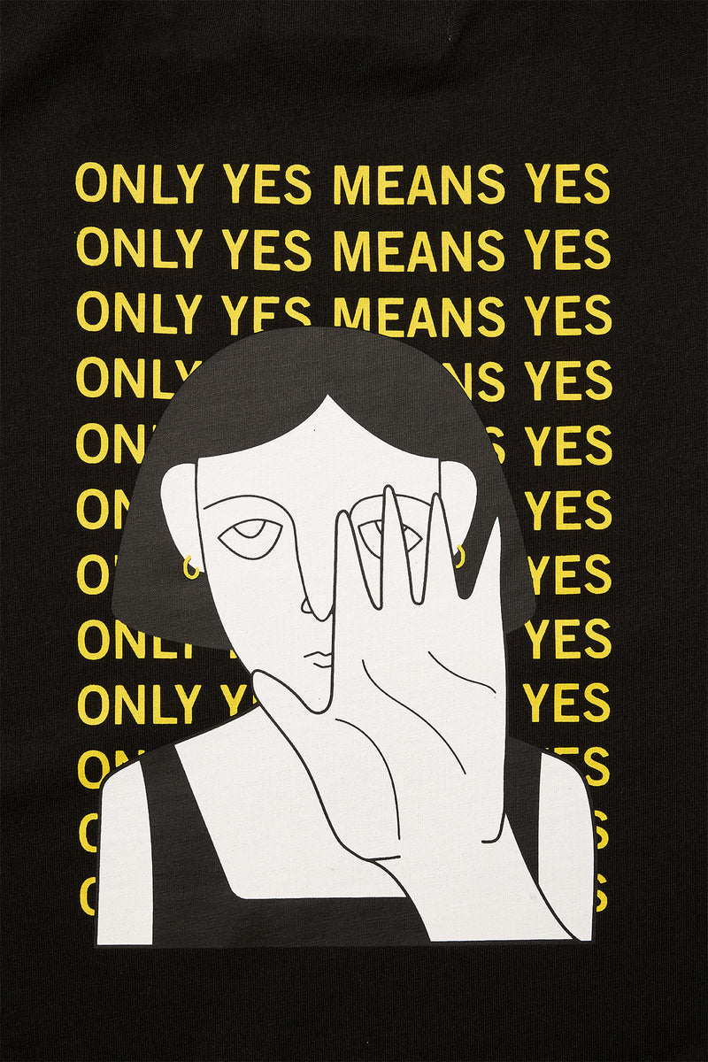 Yes Means Yes T-Shirt - Siyah