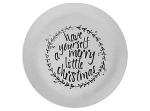 Merry Little Christmas Plate