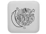 To the Moon Plate Coloring Book