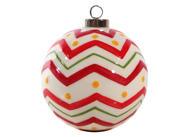 Chevron Ball Ornament