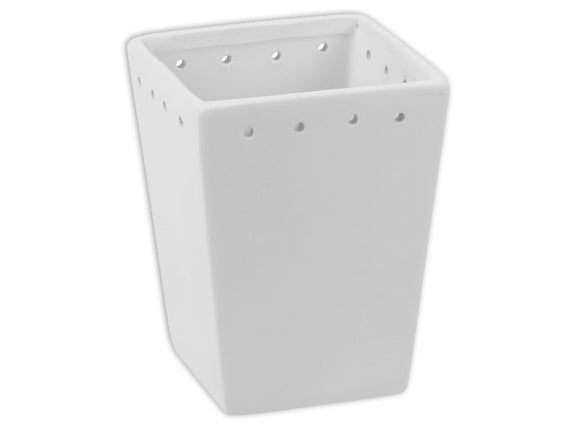 Square Flower Pot with Holes