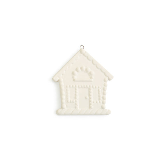 Flat Gingerbread House Ornament