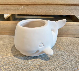 Teeny Whale Planter