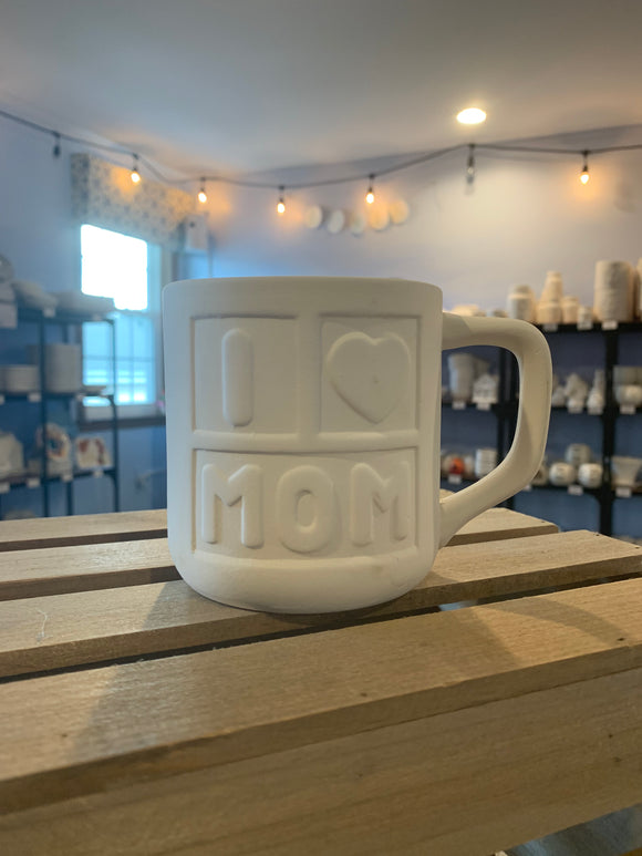 I Heart Mom Mug BLOCK