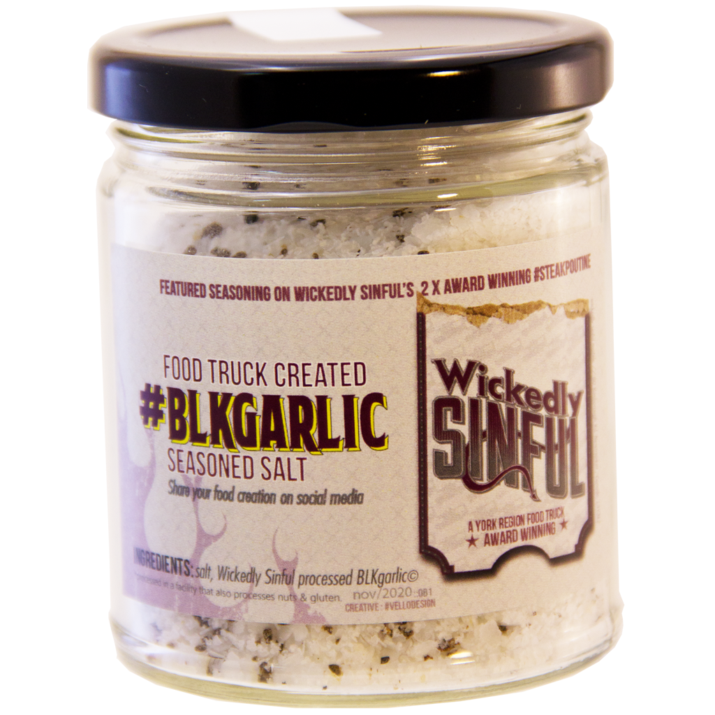 Wickedly Sinful - #BLKgarlic Seasoned Salt