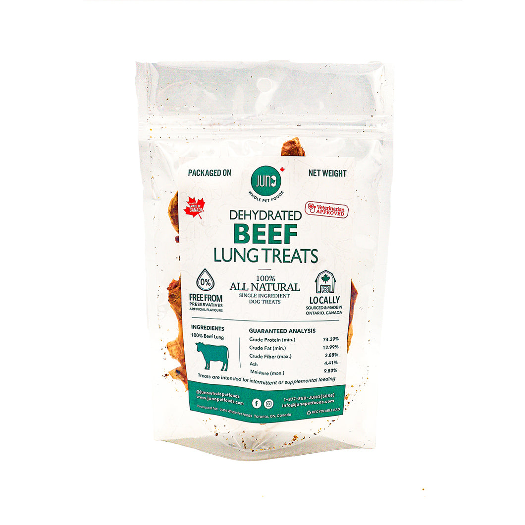 JUNO - All Natural Treats | Dehydrated Beef Lung
