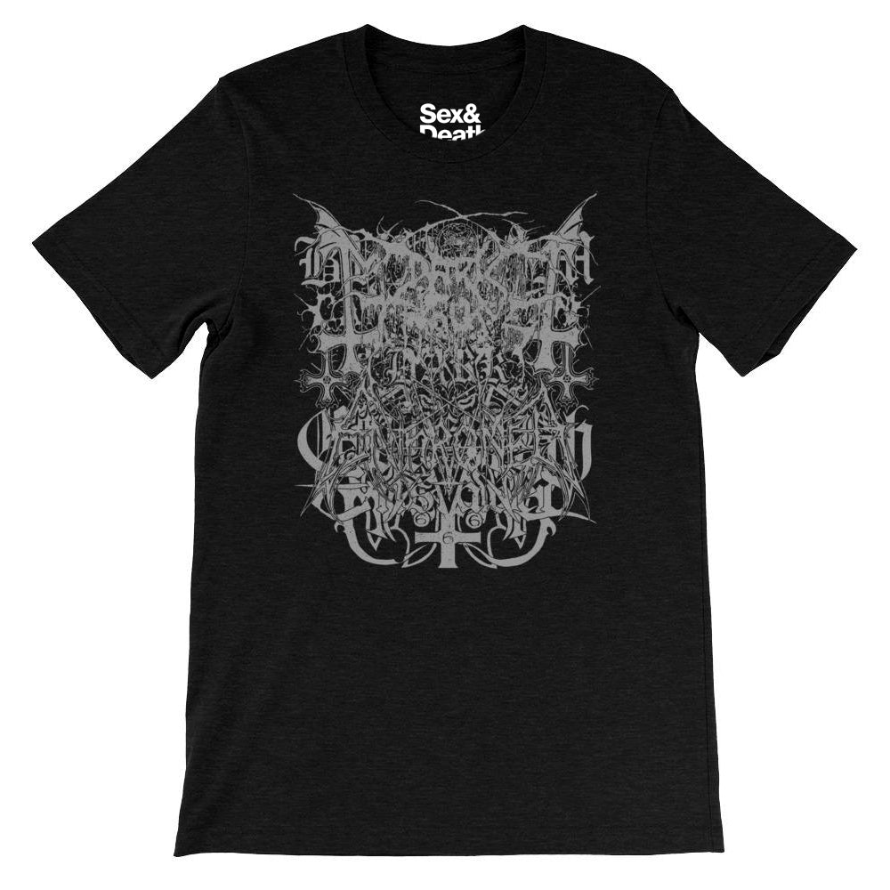 BLACK METAL LOGOS T-SHIRT