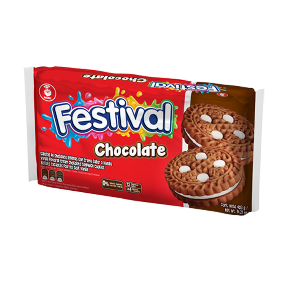 Galletas Festival Chocolate x 12 paquetes x 4 Unds