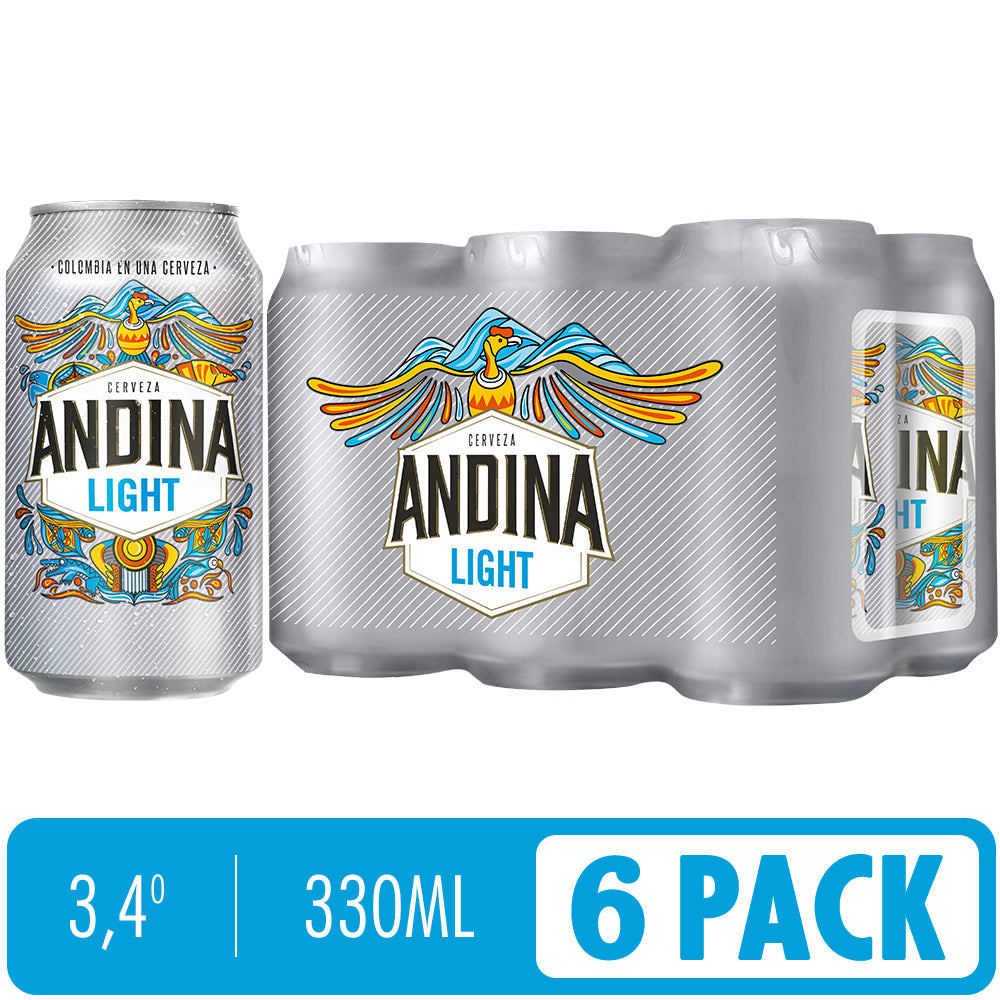 Cerveza ANDINA LIGHT sixpack x 330ml