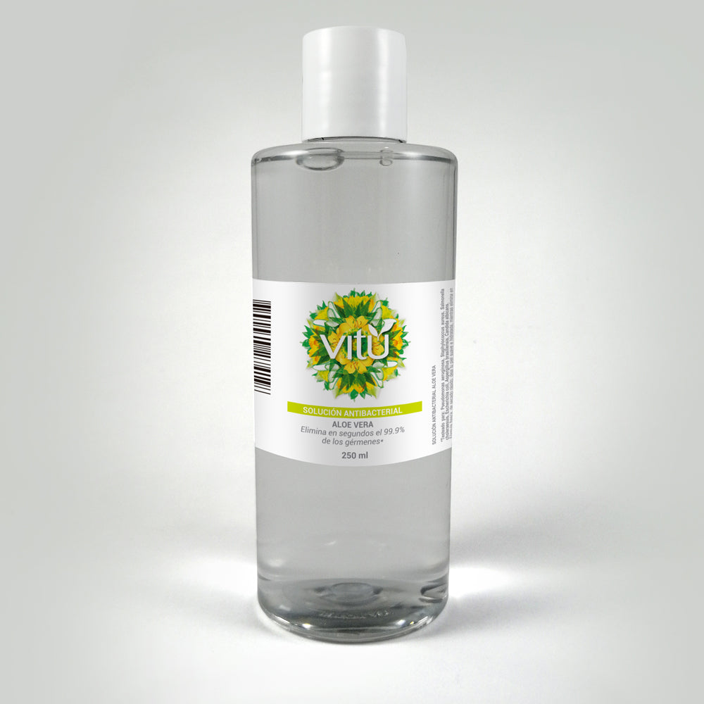 Alcohol glicerinado antibacterial  Vitú 250ml