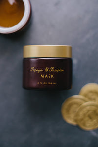 Papaya and Pumpkin Mask