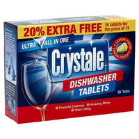Crystale 18 Dishwasher Tablets - London Grocery - Online Grocery Shopping