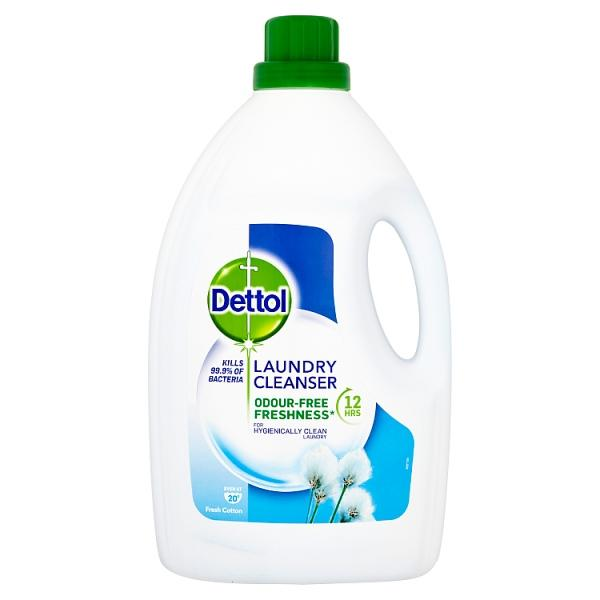 Dettol Antibacterial Laundry Cleanser, Fresh Cotton, 2.5 L - London Grocery