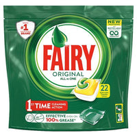 Fairy Original All In One Dishwasher Tablets Lemon x22 - London Grocery - Online Grocery Shopping
