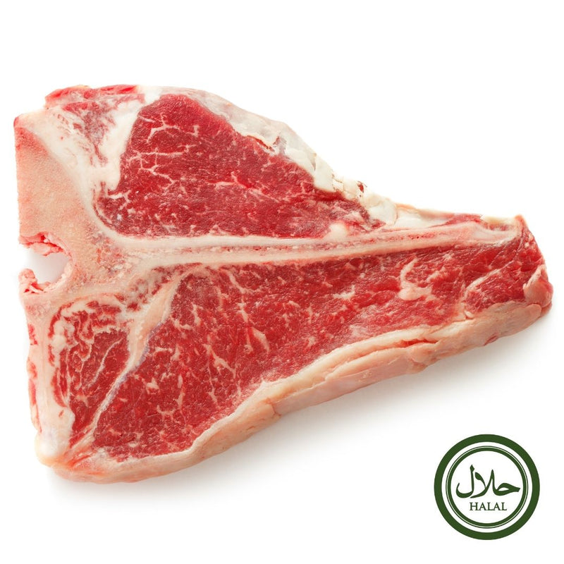 Halal Grass Fed Scottish T-bone Steak 500 gr - London Grocery