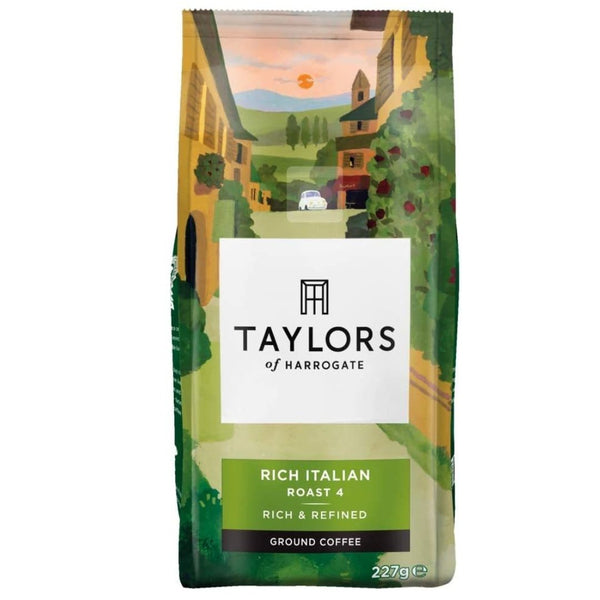 Taylors of Harrogate Rich Italian Ground Coffee 227 g - London Grocery - Online Grocery Shopping