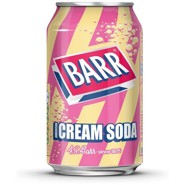 Barr American Cream Soda 330 ml - London Grocery - Online Grocery Shopping