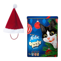 Santa Hat for Cats & Christmas Treats / Perfect Christmas Hamper Set for Cats - London Grocery - Online Grocery Shopping