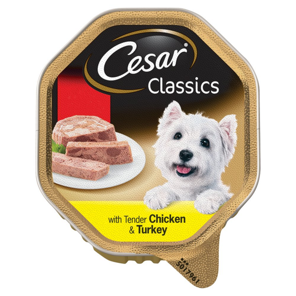 Cesar Classics Wet Dog Food Tray with Tender Chicken & Turkey in Loaf 150g - London Grocery - Online Grocery Shopping