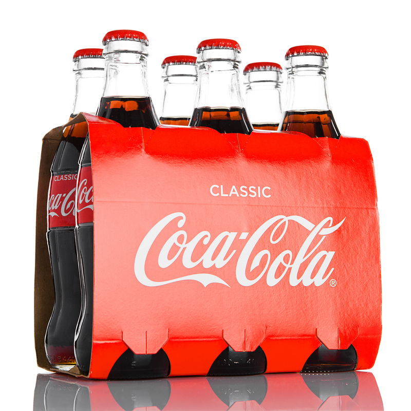 Coca Cola Classic 6 x 330 ml Glass Bottles - London Grocery