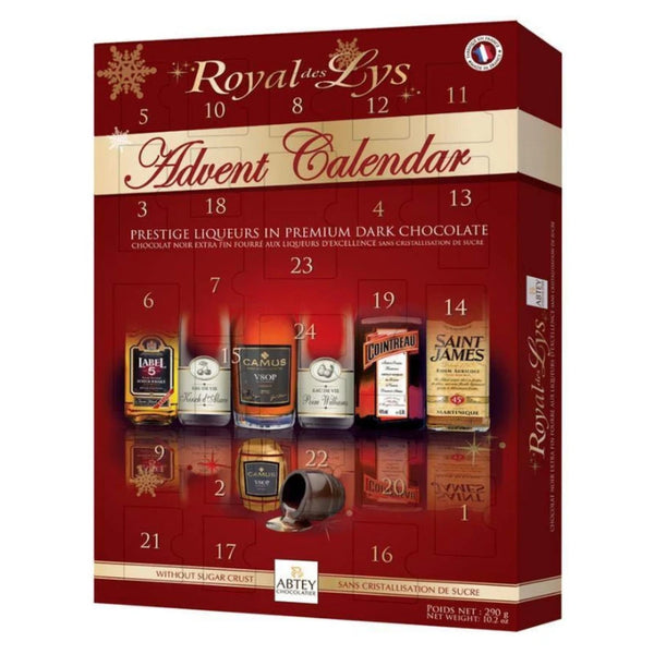 Premium Dark Chocolate Liqueur Filled Christmas Advent Calendar for Adults 290g - London Grocery - Online Grocery Shopping