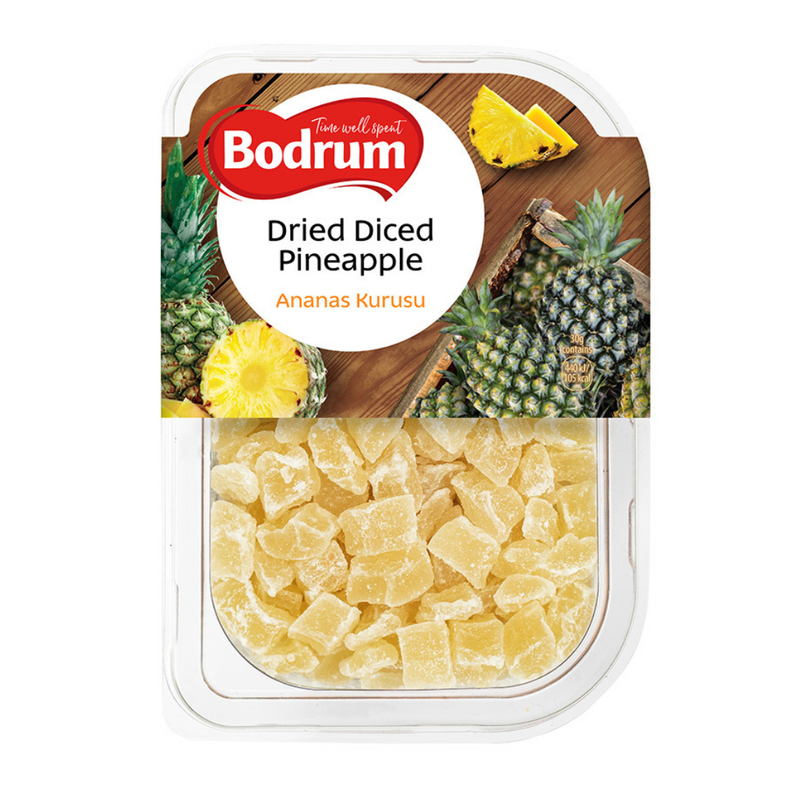Bodrum Dried Diced Pineapples 250gr -London Grocery