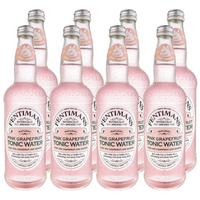 Fentimans Pink Grapefruit Tonic Water 8 x 500 ml glass bottles - London Grocery - Online Grocery Shopping