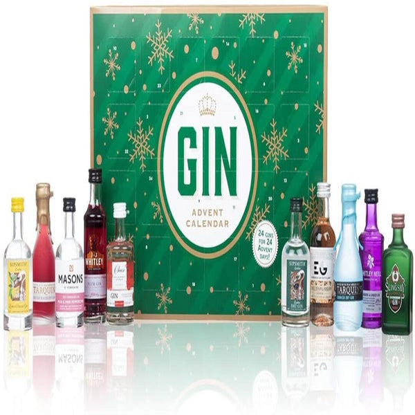 Gin Advent Calendar 2020 Edition, Countdown to Christmas, By Blue Tree (Green) - London Grocery - Online Grocery Shopping