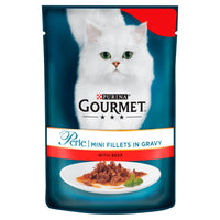 Gourmet Perle Cat Food Mini Fillets Beef in Gravy 85g - London Grocery - Online Grocery Shopping