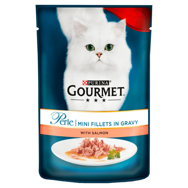 Gourmet Perle Salmon in Gravy Cat Food 85g - London Grocery - Online Grocery Shopping